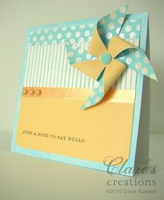 Clare's creations: Pinwheel card