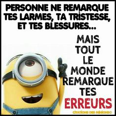 Humor & quotes QUOTATION - Image : As the quote says - Description Tellement vrai Minion Jokes, Minions Quotes, Citation Minion, Best Quotes, Funny Quotes, Humor Quotes, Short Poems, Gym Quote, French Quotes