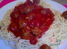 Recepty na omáčky - k masu nebo těstovinám | NejRecept.cz Tortellini, Spaghetti, Pasta, Ethnic Recipes, Lasagna, Noodles, Spaghetti Noodles, Ranch Pasta