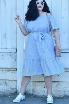 How To Wear Sneakers With A Dress