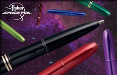 Look out for these colorful space pens we carry. They'll blow you away!