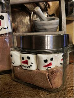 absolutely loved this idea found on Pinterest!! A Southern Belle with Northern Roots: Snowman Cocoa
