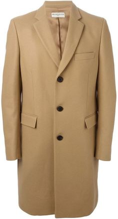 $540, Camel Overcoat: Melindagloss Single Breasted Overcoat. Sold by farfetch.com. Click for more info: https://lookastic.com/men/shop_items/339585/redirect
