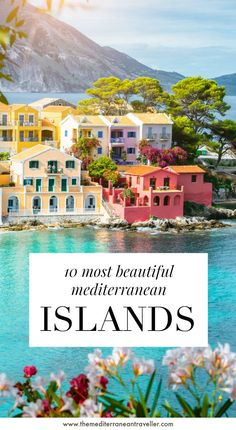 10 Most Beautiful Islands in the Mediterranean. There are 189 major islands in the Mediterranean Sea - but which are the fairest of them all? Where should you head for the most spectacular scenery, sumptuous beaches, and incredible architecture? Europe Travel Tips, European Travel, Travel Destinations, Travel Trip, Travel Goals, Travel Hacks, Amazing Destinations, Travelling Europe, Baby Travel
