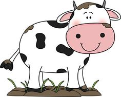 Cow in the Mud Clip Art