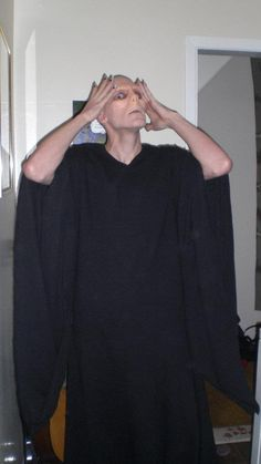 Home-made Voldemort costume