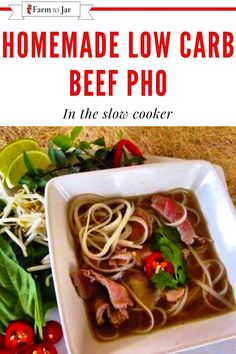 Recipe for low carb beef pho in a slow cooker (crockpot) - with modifications to low carb, slow carb or keto Pho Broth, Keto Recipes, Dinner Recipes, Winter Dishes, Spice Blends, Keto Dinner, Low Carb Keto, Slow Cooker, Kitchens