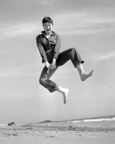 "Shirley Maclaine    Photographed by Philippe Halsman, ""Jump"" series"