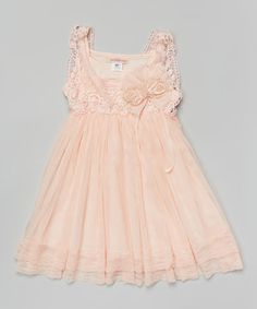 Love this Blush Lace Layered Dress - Toddler & Girls by Paulinie on #zulily! #zulilyfinds