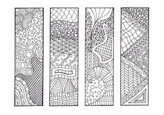 Zendoodle Bookmarks DIY, Zentangle Inspired Printable Coloring, Digital Download, Sheet 1 via Etsy