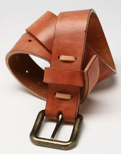 Context Leather Rugged Man Belt Waxed