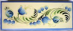 Photo: caixa 6x32x12 R$ 30 One Stroke Painting, Tole Painting, Fabric Painting, Painting On Wood, Folk Art Flowers, Flower Art, Images Lindas, Norwegian Rosemaling, Scandinavian Folk Art