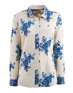 Joules null Womens Outlet Shirt, Blue Floral.                     In a stunning floral print that could only be found at Joules, this shirt is set to brighten up your wardrobe in an instant. Crafted with the finest cotton and tailored for a made to measure fit.