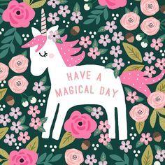 Ha e a magical day unicorn graphic design 😍🦄 Real Unicorn, Unicorn And Glitter, Unicorn Horse, Unicorn Art, Magical Unicorn, Rainbow Unicorn, Unicorn Quotes, Unicorn Illustration, Illustration Art