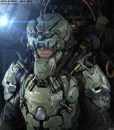 Amazing Futuristic Military Gear Art - Deployment Unit 023 — GeekTyrant