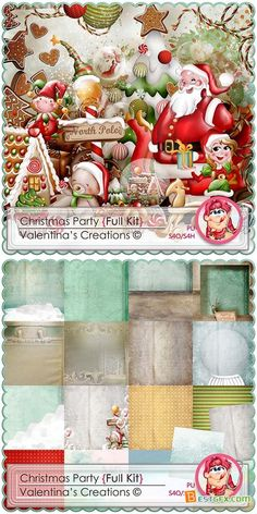 Scrap - Christmas Party JPG and PNG
