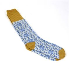 Show details for Lambswool Everyday Socks - Blue Snowflake