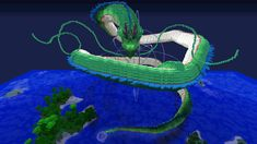 Minecraft Creations(Dragonball Z) #epic dragon