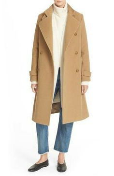 Vince Vince Stand Collar Wool & Cashmere Trench Coat available at Cute Winter Coats, Mode Mantel, Classic Wardrobe, Black Puffer, Camel Coat, Black Knit, Wool Coat, Casual Chic, Casual Wear