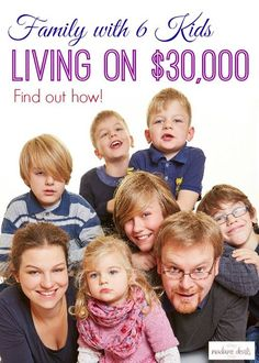Find out how a family with 6 kids was able to live on less than $30,000 Frugal Ideas, simple living #frugal