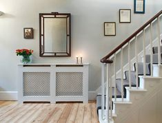 Looking for a modern radiator cover to conceal heating essentials? Take a look of modern radiator covers to make a style inside your home. Radiator covers can be made to match… Continue Reading → Best Radiators, Home Radiators, Modern Radiator Cover, Open Floor House Plans, Flur Design, Hallway Inspiration, Entryway, Cover, Hallways