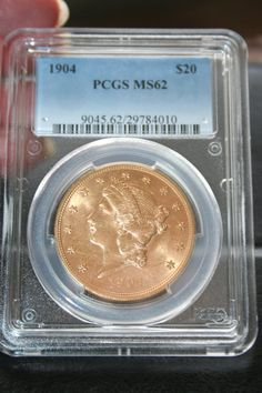 1904 Liberty Head Twenty dollars Gold Coin Gold PCGS by Lanter, $2000.00