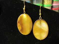 Brown Shell Disks by jsdd on Etsy, $7.00
