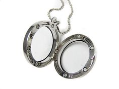 Make Your Own Origami Owl Locket Necklace for a lot less money! Start with this Regular Round Glass Floating Charms Locket Necklace