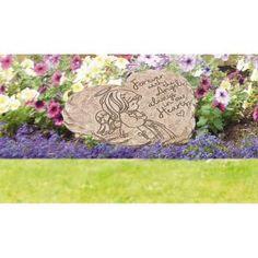 Angel 8 in. Resin Memorial Garden Stone Precious Moments Angel 8 in. Concrete Stepping Stones, Concrete Steps, Memorial Garden Stones, Bereavement Gift, Garden Design Plans, Cast Stone, Garden Borders, Decorative Signs, Precious Moments