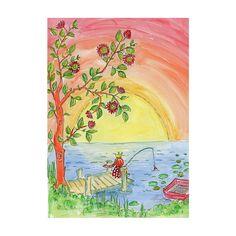 Fiskelycka Art print from Kiddo Art on http://kiddoart.tictail.com/