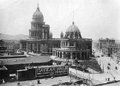 San Francisco's Old City Hall, built over 25 years, occupied the area where the New Main Library is today. It was destroyed in the 1906 earthquake and fire.