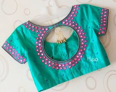 Beautiful mirror work Blouse Designed by Designer Blouse Ideas . Tag your picture with… Beautiful mirror work Blouse Designed by Designer Blouse Ideas . Tag your picture with… Simple Blouse Designs, Stylish Blouse Design, Fancy Blouse Designs, Blouse Neck Designs, Back Neck Designs, Blouse Styles, Mirror Work Saree Blouse, Mirror Work Blouse Design, Mirror Saree