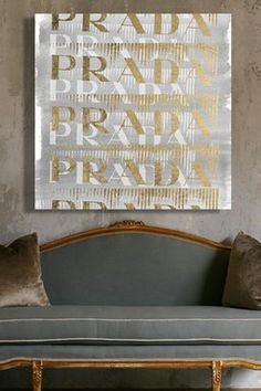 Oliver Gal Gold Pop Canvas Art by Oliver Gal Gallery on Fashion Wall Art, Oliver Gal, Typography Art, Room Inspiration, Canvas Art, Artsy, Invitations, Gallery, Gold