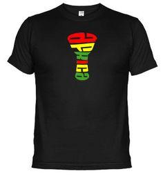 "Camiseta ""Djembe África"". Compra online en www.latostadora.com/mundopercusion"