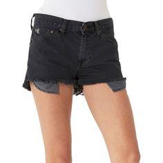 Big Star Cloud 9 Boyfriend Shorts ($68) ❤ liked on Polyvore featuring shorts, black, big star shorts, big star, boyfriend shorts and cotton shorts