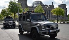 """To do this, he was travelling overland through ten countries in a Mercedes-Benz G-Class, the high-performance off-road vehicle that Mike calls """"the motorised version of me""""."""