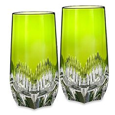 (COMPARE ELSEWHERE AT $225) WATERFORD Mixology Neon Green Highball Glass Set of 2 $195 PICK UP OR SHIPS FREE agnellinos.com