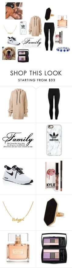 """with my new puupy and Justin"" by mrsbieber123-396 ❤ liked on Polyvore featuring Unravel, adidas, Casetify, NIKE, Jaeger, Givenchy, Lancôme and Bling Jewelry"