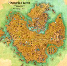 Khenarthi's Roost zone map. Mistral. The Elder Scrolls Online - ESO Maps, Guides  Walkthroughs.