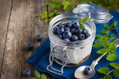 Blueberry Chia Seed Pudding - A delicious power-breakfast or snack packed with health-promoting antioxidants and other beneficial plant nutrients to get you through the day. Blueberry Bushes For Sale, Blueberry Plant, Avocado Smoothie, Overnight Chia Seed Pudding, Puzzles, Ninja, Great Lunch Ideas, Highbush Blueberry, Cereal Recipes