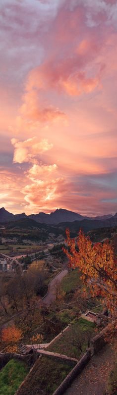 Autumn sunset on the Peña Montañesa in Laspuna, Spain • photo: Juan Eduardo De Cristofaro on 500px