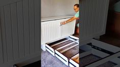 Home Decor Bedroom, Bedroom Ideas, Cama Ikea, Building An Addition, Murphy Bed, Carpenter, Storage Solutions, Home Projects, Space Saving