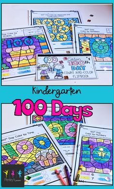 These color by code sheets allow students to practice shapes, upper and lowercase letters, sight words, telling time, numbers, and colors while having fun coloring engaging pictures! There is also a 100th Day Count and Color Flipbook included that students will count and color 100 various images, then practice reading and tracing the name of the images!