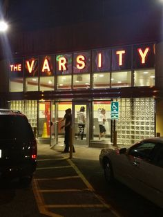 Pics from the road.... Late night food stop at The Varsity ATL @TheVarsity1928