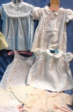 DU-13pc lot vintage baby girl clothes dresses outfits-embroidered batiste+lace