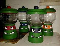 Turtle candy jar