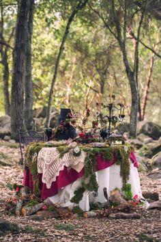 Little Red Riding Hood inspired wedding shoot by Something Turquoise! Woodland and Rustic! Amazing Wedding Cake!