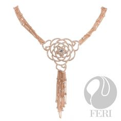 - Exclusive 950 fine sterling silver - Exclusive 3 micron rose gold plating - Set with AAA white cubic zirconia and a black cubic zirconia - Length: + extender with lobster clasp Cool Necklaces, Beautiful Necklaces, Desert Dream, Optical Glasses, Sterling Silver Jewelry, Gold Necklace, Marketing Branding, Rose Gold, Pendants
