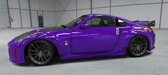 purple 350z. My favorite color on an awesome feaking car! one day man! just add some black wheels an we will be set son! <3 :D :)