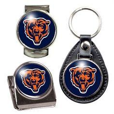 Chicago Bears Key Chain Money Clip Magnet Gift Set